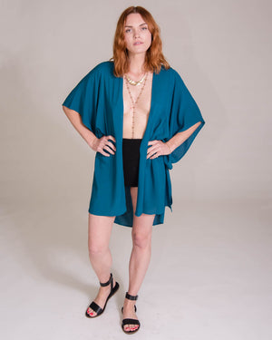 Moon Bliss Kimono in Mediterranean Sea