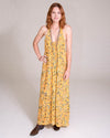 Long Perfect Dress in Golden Blooms