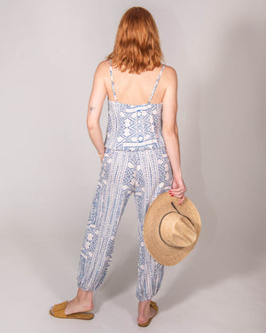 Claudette Jumpsuit in Côte d'Azur