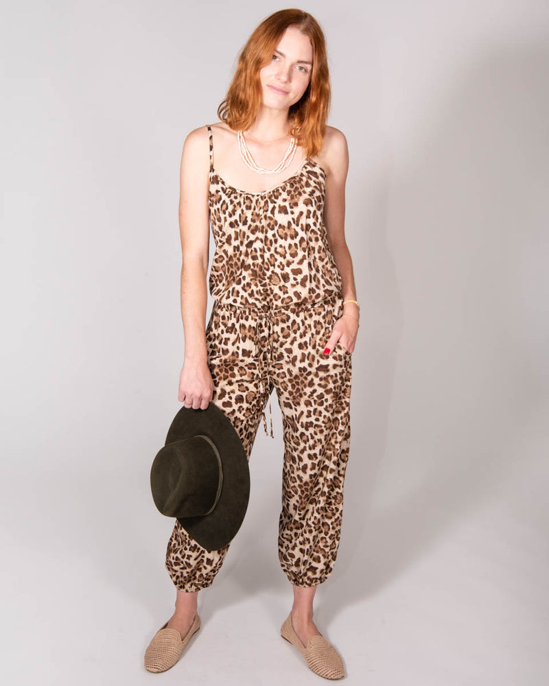 Claudette Jumpsuit in Leopard