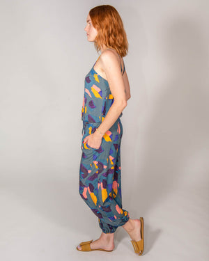 Claudette Jumpsuit in Abstract