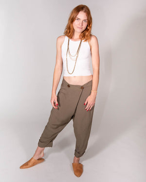 Wrap Pant in Olive