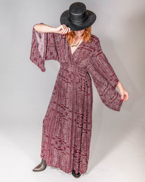 Wrap Me Up Dress in African Sunrise