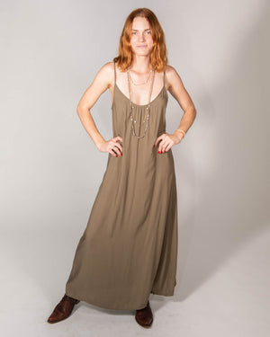 Long Perfect Dress In Olive