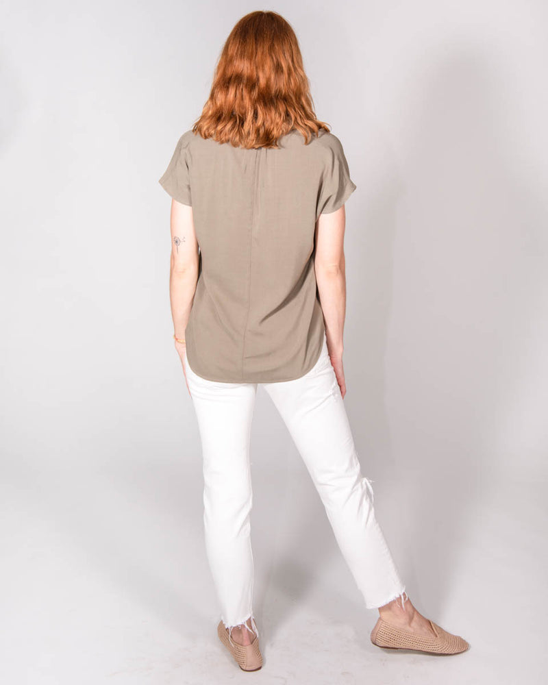 Travel Top in Olive