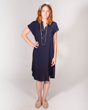 Travel Dress in Navy