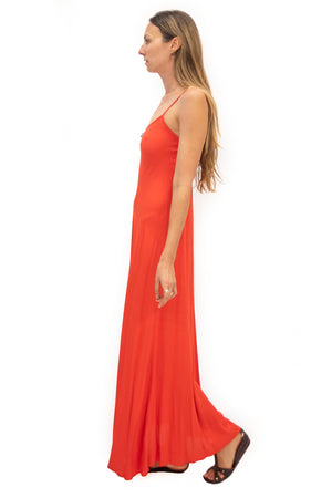 Deer Creek Dress in Tangerine