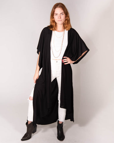 Lounge Robe in Black