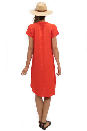 Travel Dress in Tangerine