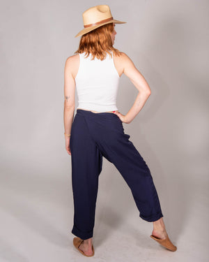 Wrap Pant in Navy