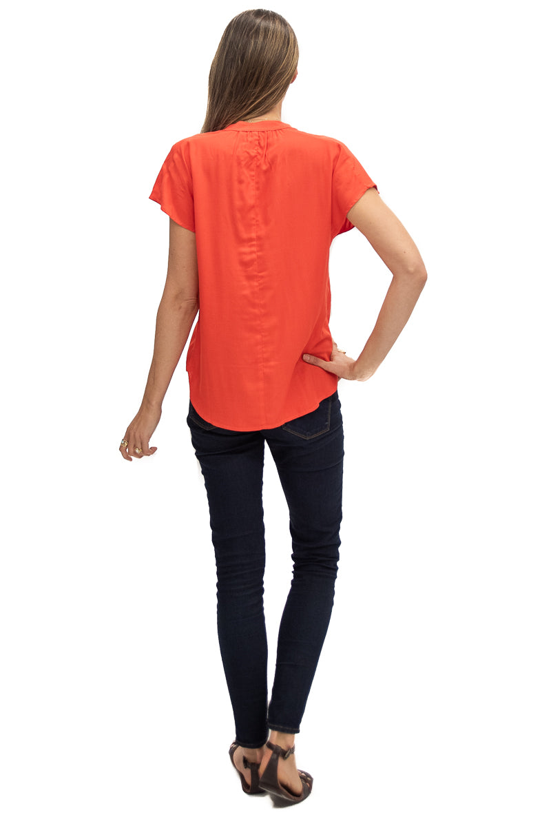 Travel Top in Tangerine