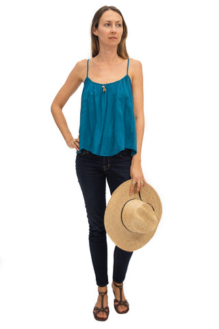 Travel Top in Indigo Seas