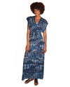 Garbo Dress in Indigo Seas