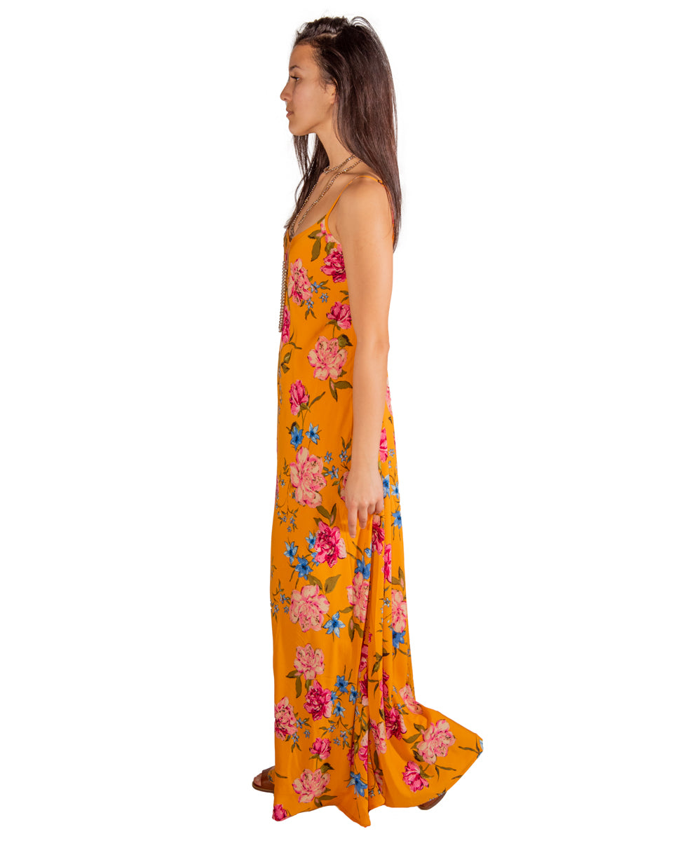 Deer Creek Dress in Golden Blooms
