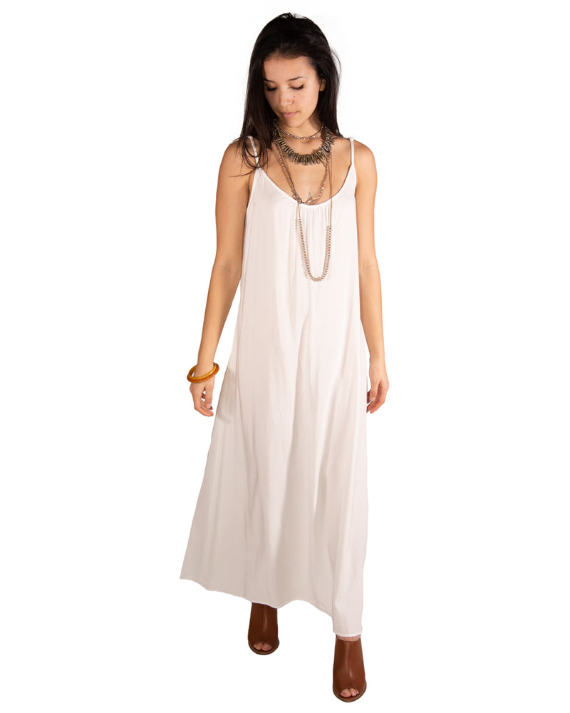 Long Perfect Dress In Off White