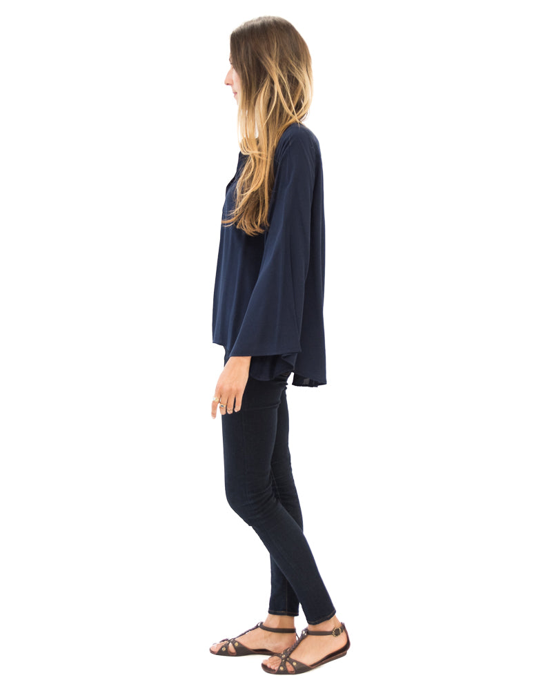 Fitzgerald Blouse in Navy