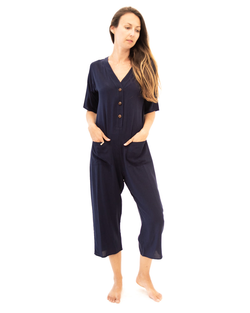 Playdate Jumpsuit in Navy