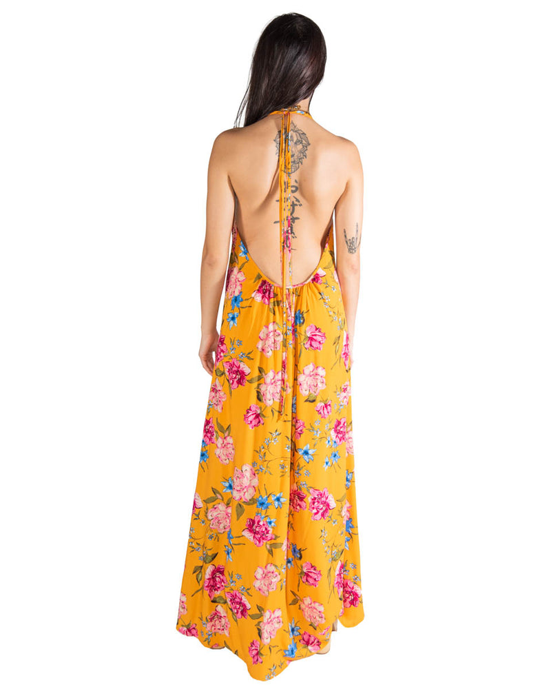 Wanderlust Dress in Golden Blooms