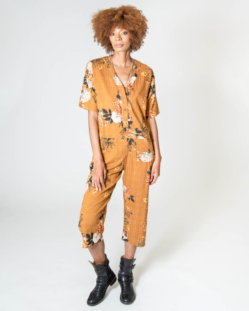 Playdate Jumpsuit in Desert Rose