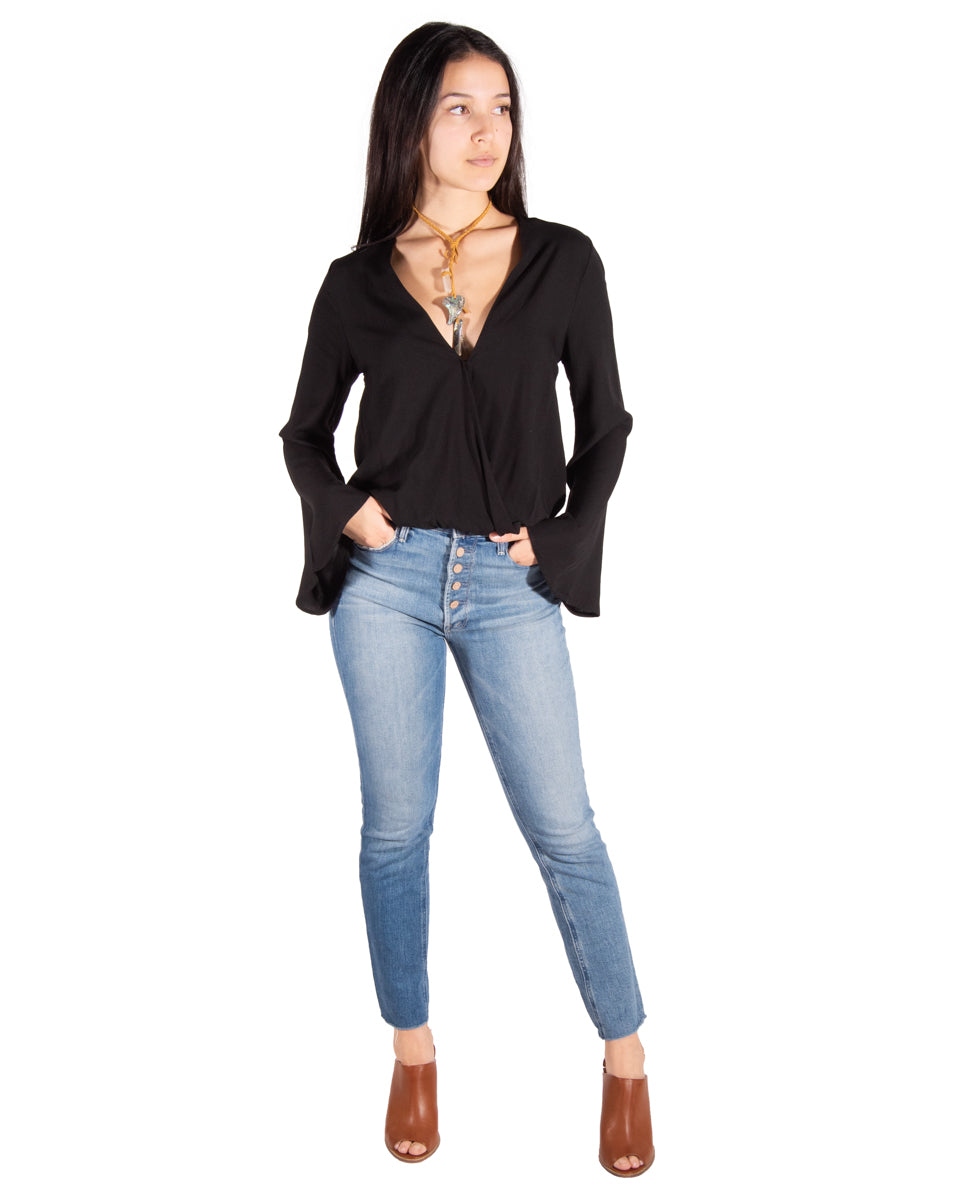 Flamenco Top in Black