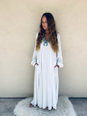 Nomad Dress in Off White