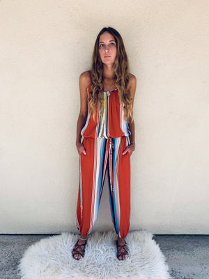 Claudette Jumpsuit in Riad Serape