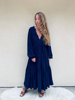 Tuscany Dress in Navy