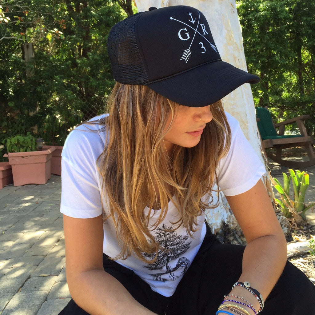 GR Anchor Hat in Black