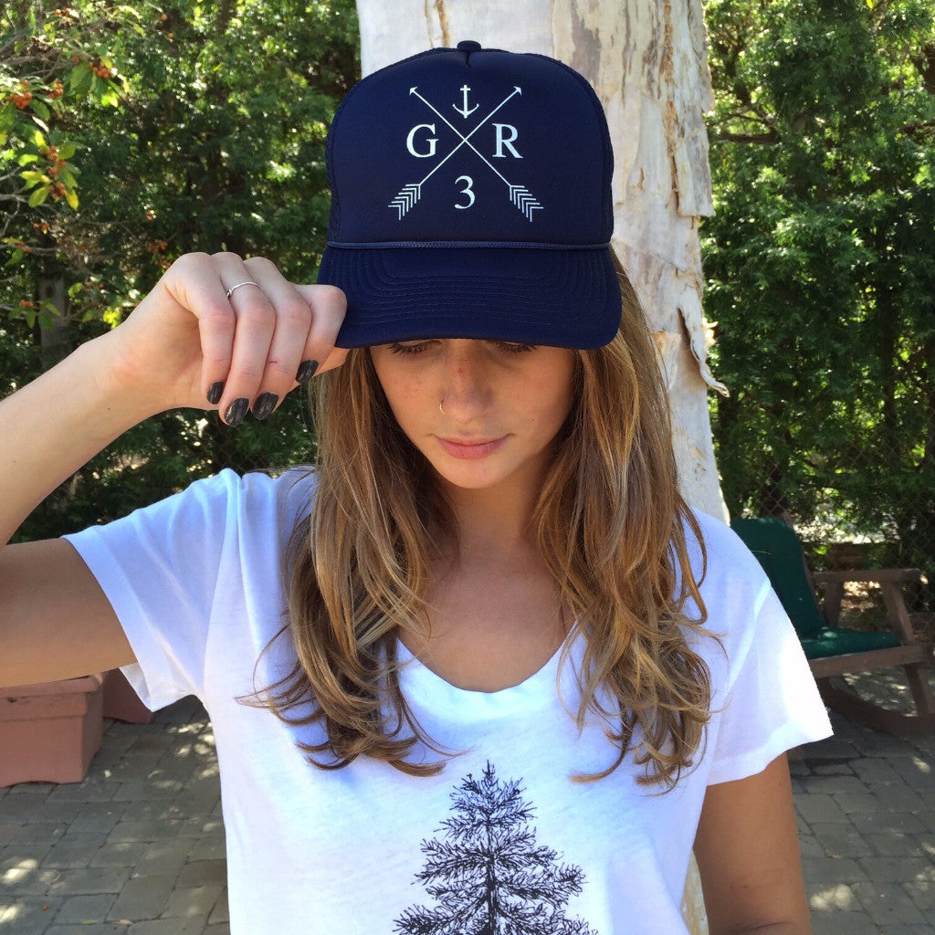GR Anchor Hat in Navy