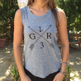 GR Anchor Rocker Tank in Heather Grey