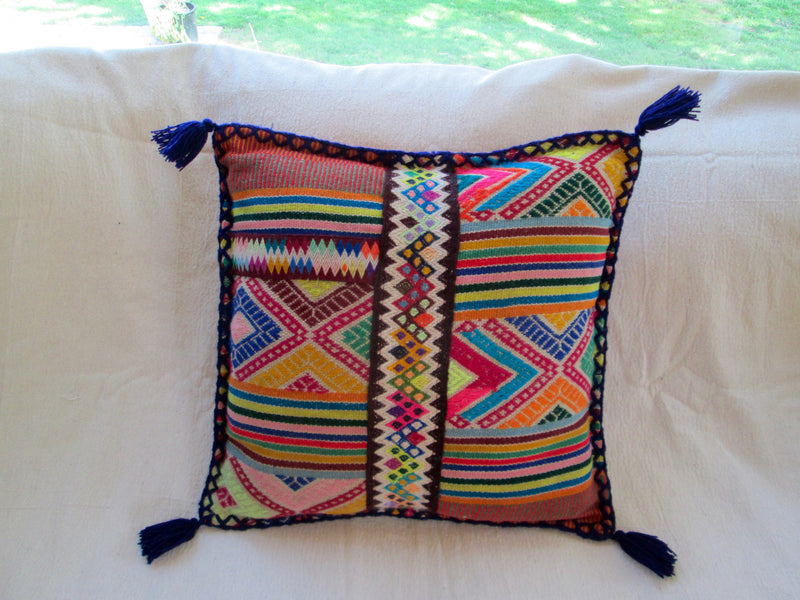 Small Peruvian Pillow in Azul Real