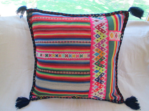 Small Peruvian Pillow in Uva
