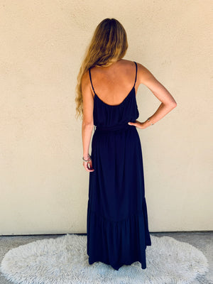 Positano Dress in Navy