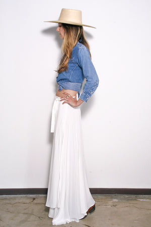 Wrap Skirt in Off White