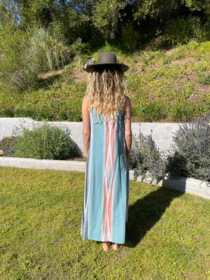 Long Perfect Dress in Seaside Serape