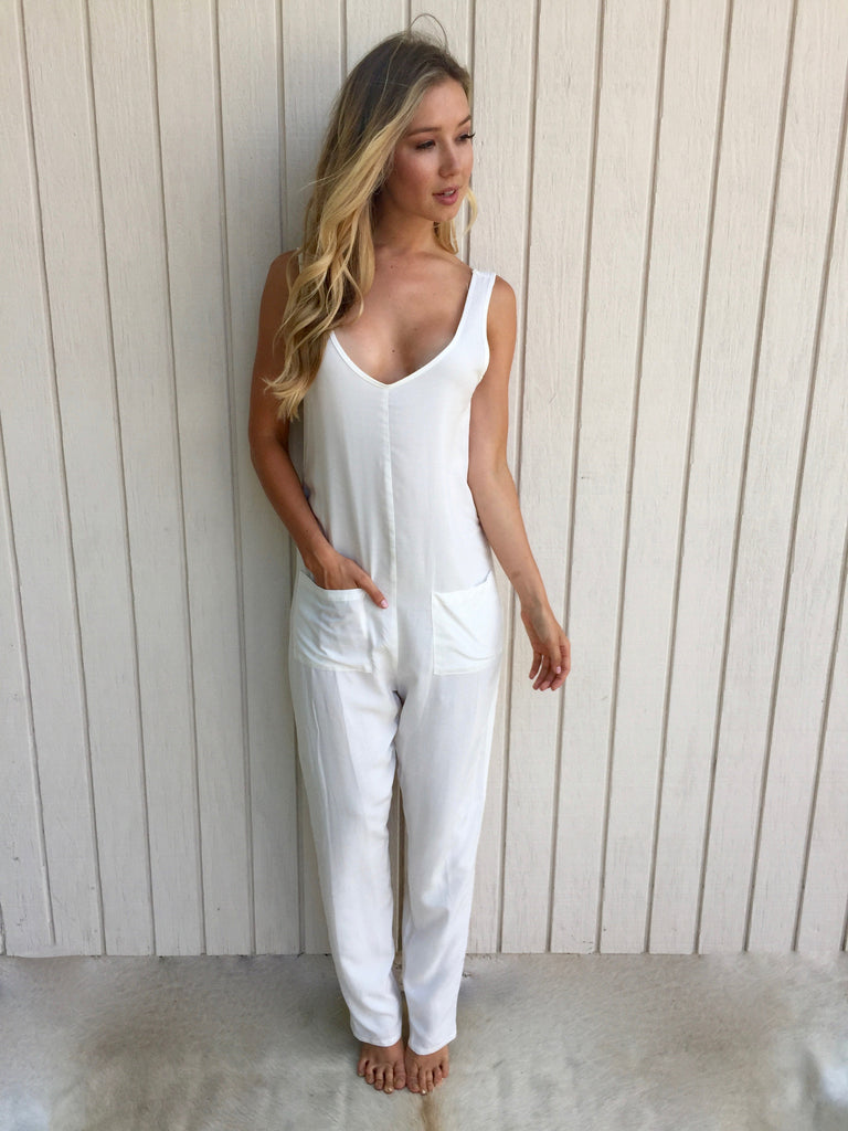Shepherdess Playsuit in Off White