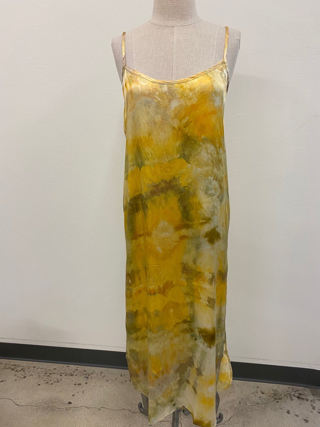 Hand Tie-Dyed Silk Slip Dress - Sunshine M/L