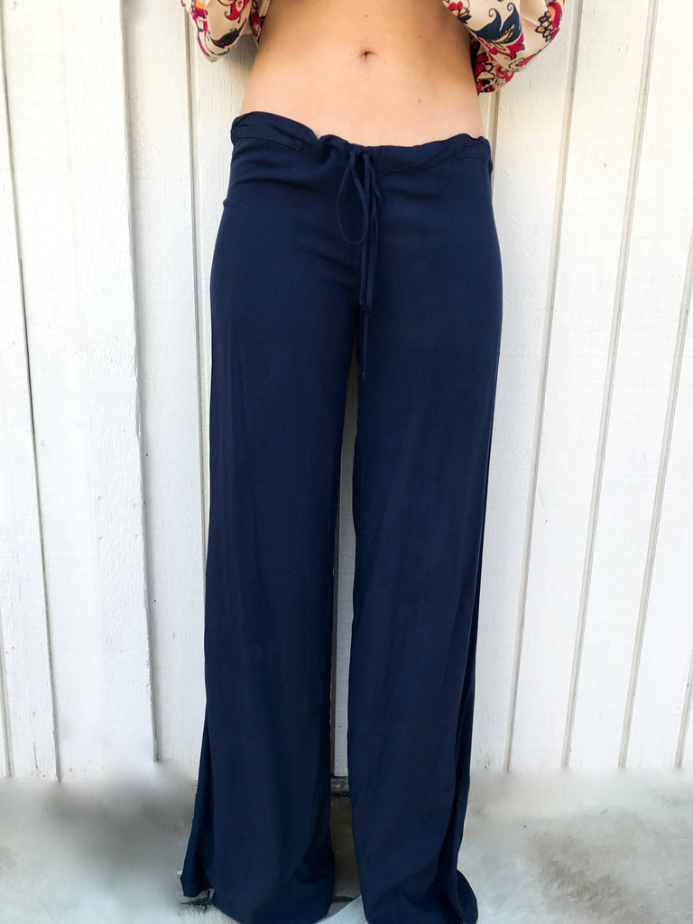 Drawstring Pant in Navy