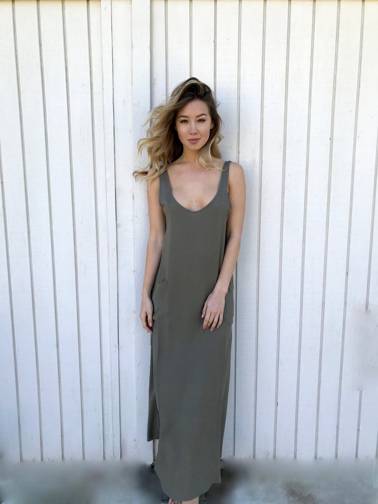 Everyday Dress in Olive