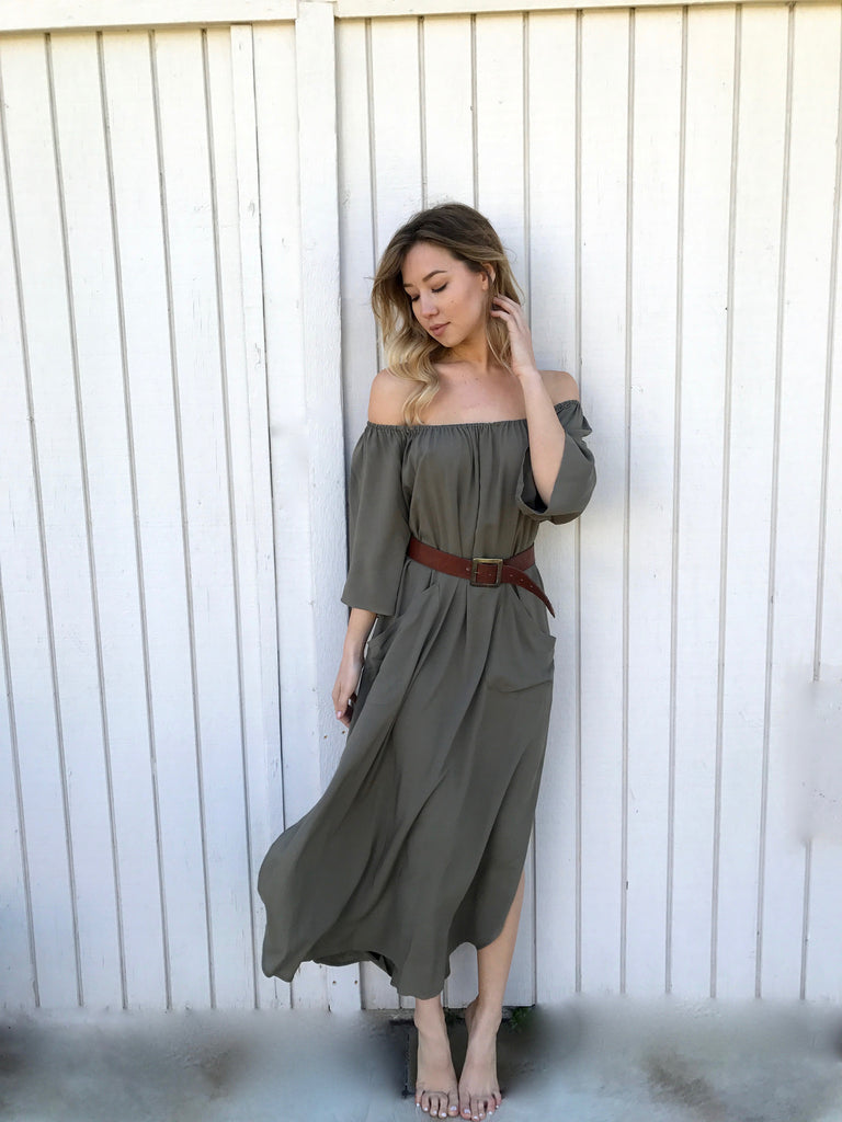 Señorita Dress in Olive