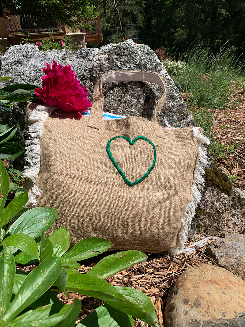 Respect Mother Earth Bag in Burlap
