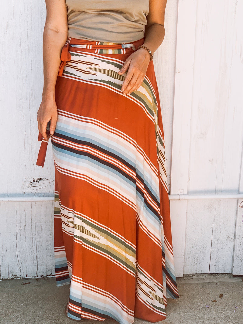 Wrap Skirt in Riad Serape