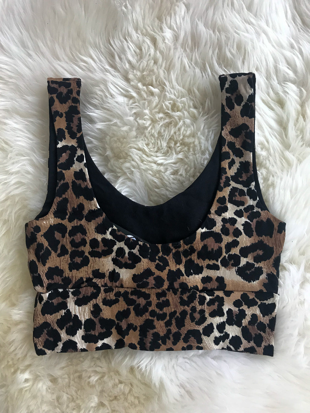 Crop Tank in Leopard