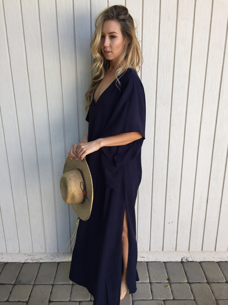 River Nymph Dress in Navy
