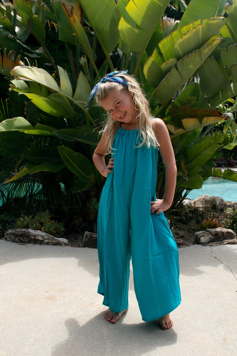 TYSA Mini Sonoma Playsuit in Aqua Dreams
