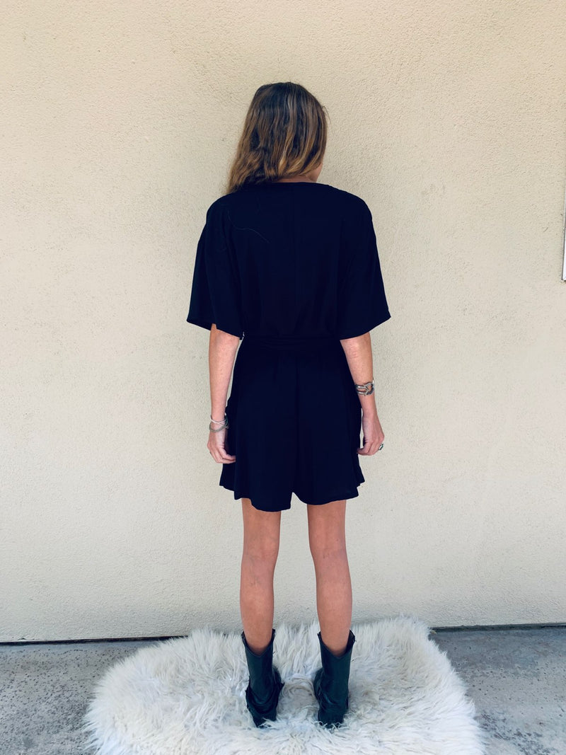 French Market Romper in Black