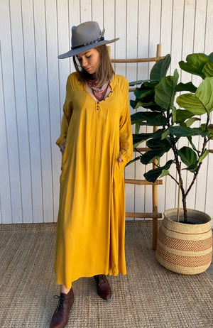 Nomad Dress in Citrine