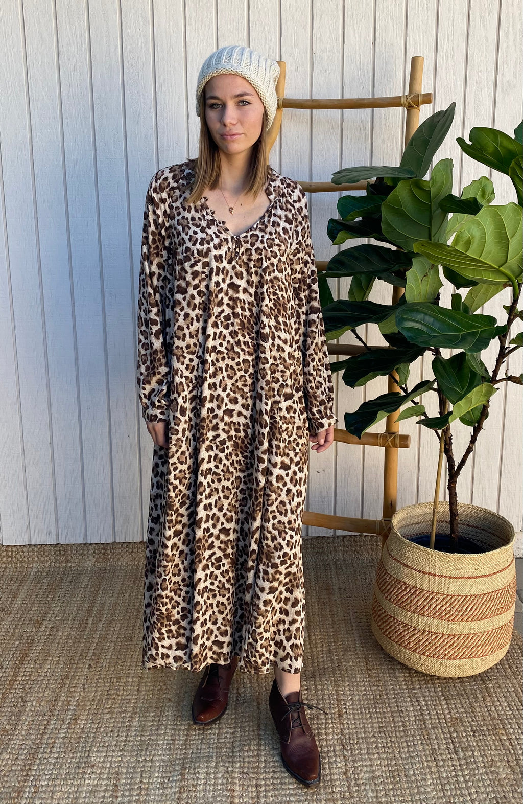 Nomad Dress in Leopard