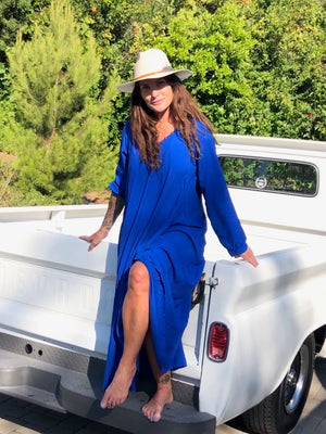 Nomad Dress in Majorelle Blue