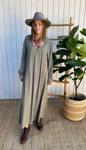 Nomad Dress in Olive